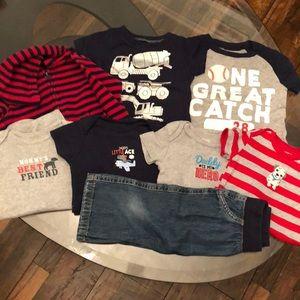 8 Piece Bundle Carter's Red Navy 9 Month Boy